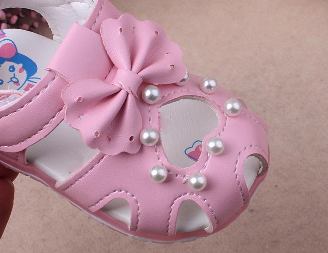 Chaussures Filles,Yesmile Sandales Fille Chaussure Printemps Et/é Femme Mode Enfants Filles B/éb/é Fille Chaussures en PU Chaussures Lumineuse 15, Rose