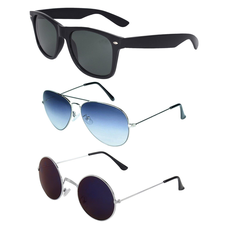 Zyaden Sunglassescombo 319 Combo WayfarerAviatorRound Of D9E2YWIeH