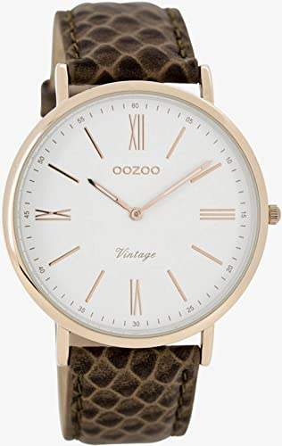 Oozoo Damen-Armbanduhr Analog Quarz Leder C7353