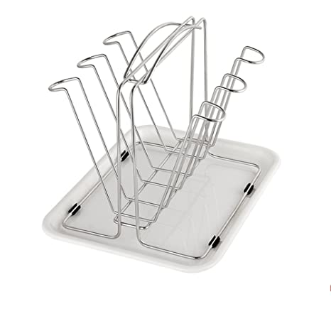 Amazon.com - MAOMAOXIAO Cup holder With pallet storage drain rack Stainless steel-B -