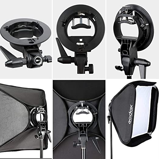 Black + White Without Flash Light Holder HyxppthiAAccessory Hyx 45cm Universal Foldable Ring Style Flash Folding Soft Box softbox