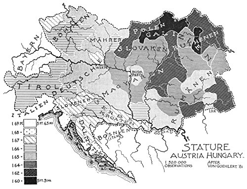 Home Comforts LAMINATED POSTER Map of Height Map of Austria Hungary (1898) POSTER PRINT 24 X 36 1898 Photo Print