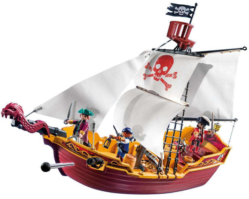 Amazon.com: PLAYMOBIL Red Serpent Pirate Ship: Toys & Games