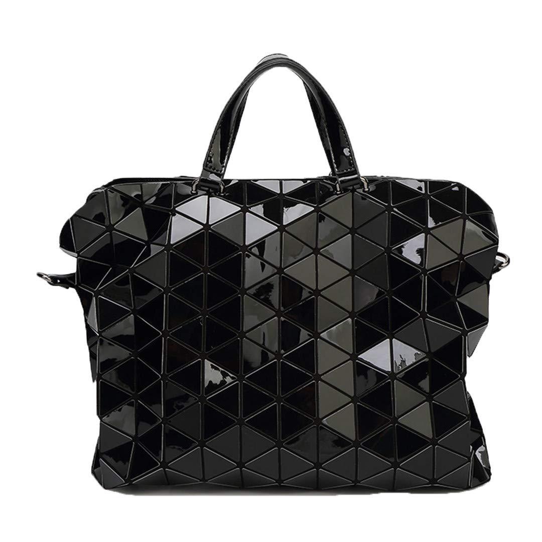 87253371d8889 Geometrie Pailletten Spiegel Plain Folding Taschen Taschen Taschen  Leuchtende PU Casual Tote Paket 3 B07N1GH4C1 Umhngetaschen Moderner Modus  a61f30