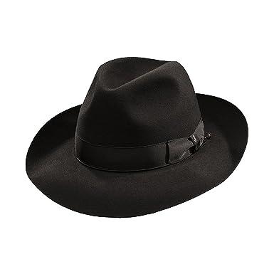 054e53daf0046 Borsalino Ernesto - Beaver Fur Felt Hat - Black at Amazon Men s Clothing  store