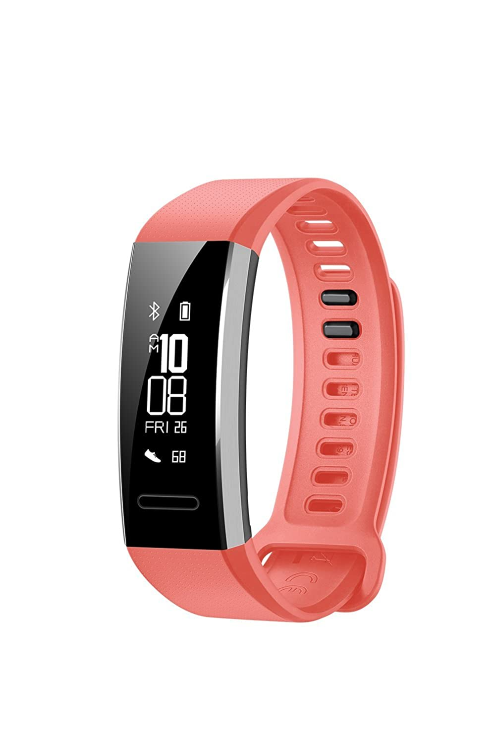 Huawei Band 2 Pro All-in-One Activity Tracker Smart Fitness Wristband GPS Multi-Sport Mode Heart Rate Sleep Monitor 5ATM Waterproof, Red US Warranty