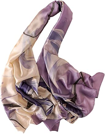 Awesome  pure Silk luxurious weightless scarf lavender //black// white //pink SALE!