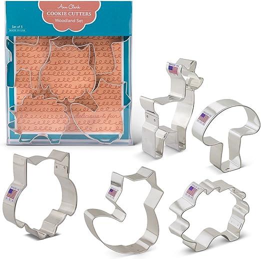 Cortador de galletas con forma de erizo tama/ño peque/ño, 4,5 cm, acero inoxidable