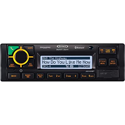 JENSEN JHD1635BT Heavy Duty AM/FM/RBDS/WB/USB/AUX-IN/BT/iPod & iPhone ready/Sirius XM Ready Bluetooth Stereo Radio, 12V DC