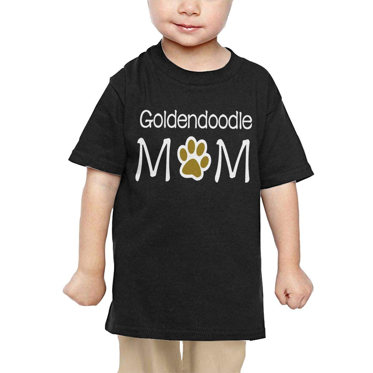 Chunmmmmm Goldendoodle Mom Baby Kids Short Sleeve Round Neck Cotton Tshit