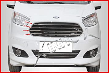 400061 Ford Tourneo Courier/Transit Courier frontal cromado Grill 4pcs S. acero 2014 +: Amazon.es: Coche y moto