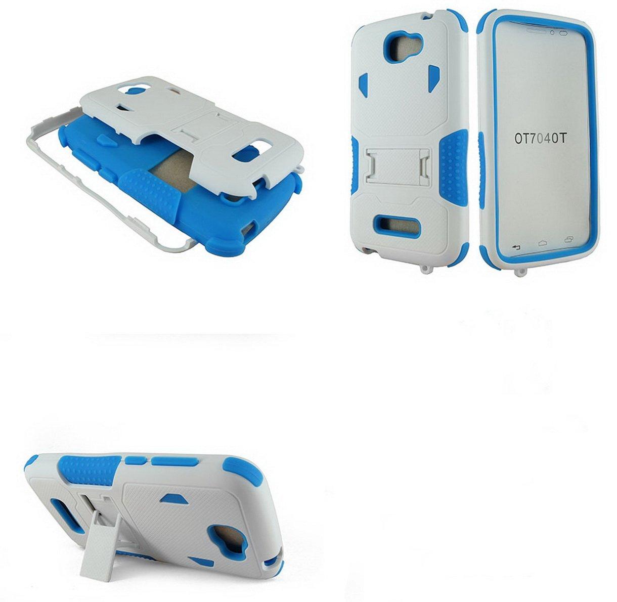 Amazon.com: 2 in1 Wallet Case de carcasa para Alcatel One ...