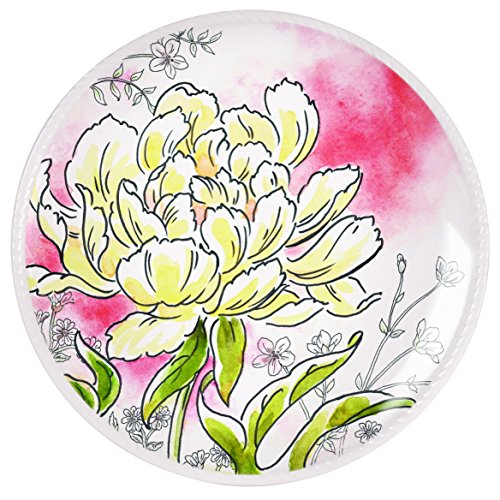 (Savannah Collection, Yellow Peony Accent Plate 1)