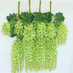 e-Joy 3.6 Feet Artificial Wisteria Vine Ratta Silk Hanging Flower Wedding Decor, 12 Pieces 2