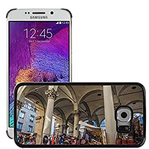 Hot Style Cell Phone PC Hard Case Cover // M00170603 Florence Italy Outdoor Market // Samsung Galaxy S6 EDGE (Not Fits S6)