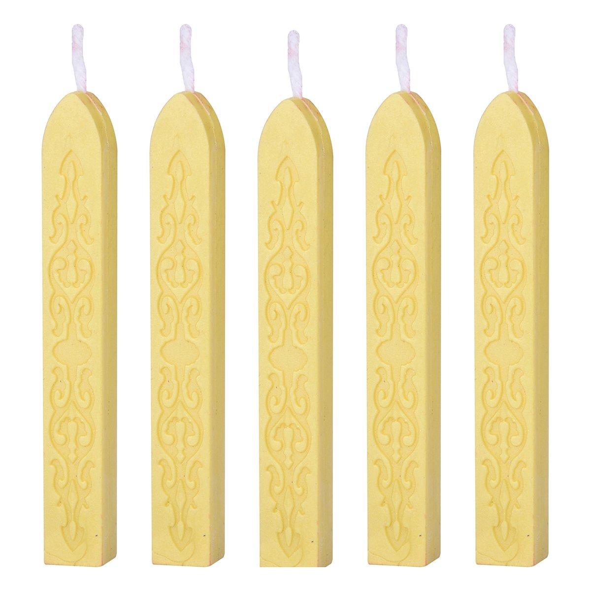 Retro Sealing Wax Sticks with Wicks for Postage Letter Wedding Blue 5 Pcs LiangGui LG00AJ00UH