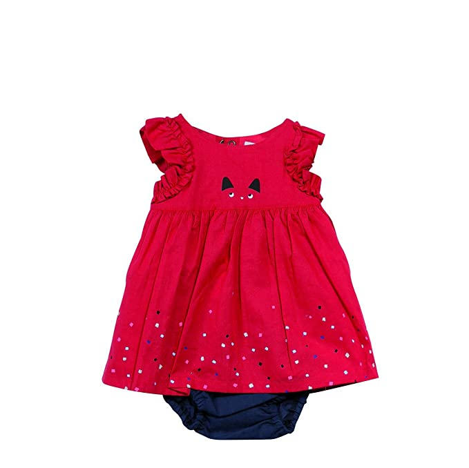 Catimini CJ30171, Vestido para Bebés, Rojo (Rouge 37), 1 Año