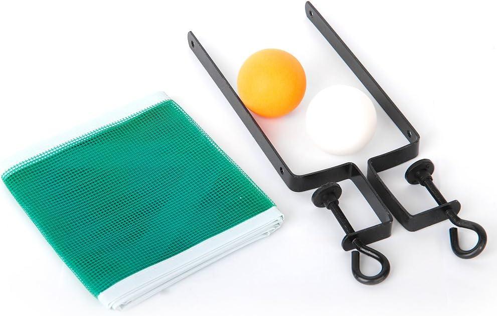 perfeclan Tenis De Mesa Chino Ping Pong 2 Pelotas +Red + Soporte Poste Deporte Juguete