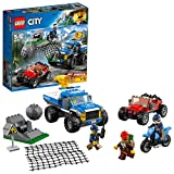 LEGO 60172 City Mountain Dirt Road Pursuit Police Building Set, Police 4 x 4 Toy Car and Buggy, Police Toys for Kids