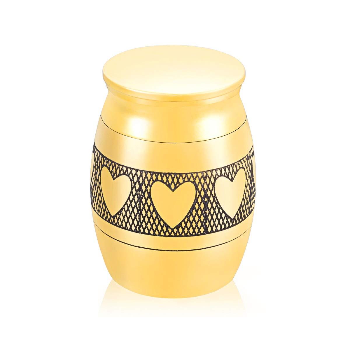 HooAMI Mini Urne Funeraire Chien Chat Gravé en Acier inxydable Ouvert Cadeau pour Amis des Gens 40mmx30mm Noir Best-shopping B0A0EA1SV6