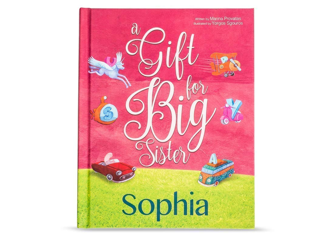 Personalized Big Sister Book from YounIQ Relatives Gift a Hardcover Storybook Customized for Your Childs Name or Friends to New Sibling from Baby