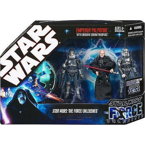 Star Wars Force Unleashed Emperor Palpatine & Shadow Stormtrooper Figure (Action Figure Stormtrooper Commander)