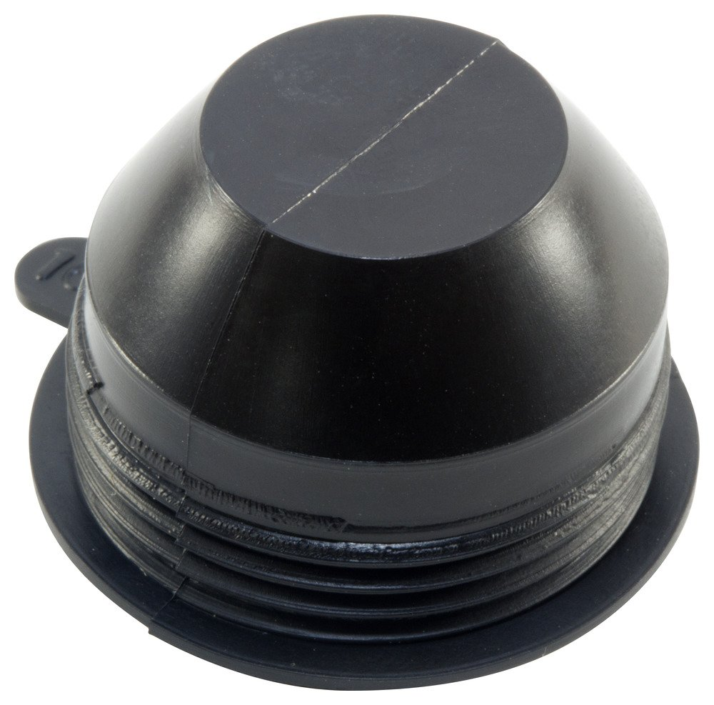 Caplugs QETV12Q1 Plastic Flexible VINYL External Thread Plug. ETV-12, PVC, To plug thread size 1-1/16'' ID 1.047'''' Depth 0.750'', Black (Pack of 560)