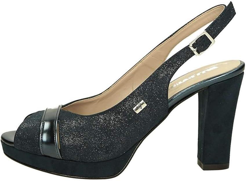 VALLEVERDE Sandalo Scarpe Tacco Pelle Donna Platino