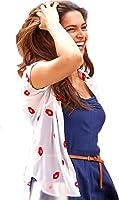 Harikrishnavilla Women's Faux Georgette Shrug (Lips__Pink_Free Size)