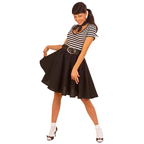 NET TOYS Gonna nera per abbigliamento ballerina di rock and roll accessori  costume anni 50 55bd276f7ce