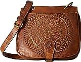 Patricia Nash Women's Karisa Small Flap Crossbody Cognac Crossbody Bag