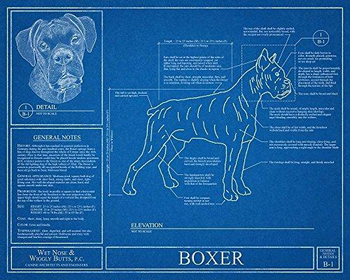 Blue Dog Antiques (Boxer Dog Blueprint)