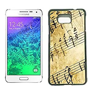 Hard Case Cover for Samsung Galaxy Alpha (Treble Clef Music)