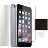 [Pack of 10] TECHGEAR® Apple iPhone 6s, iPhone 6 (4.7 Inch) ULTRA CLEAR Screen Protector Guard Cover With Screen Cleaning Cloth & Application Card (ECO PACK)