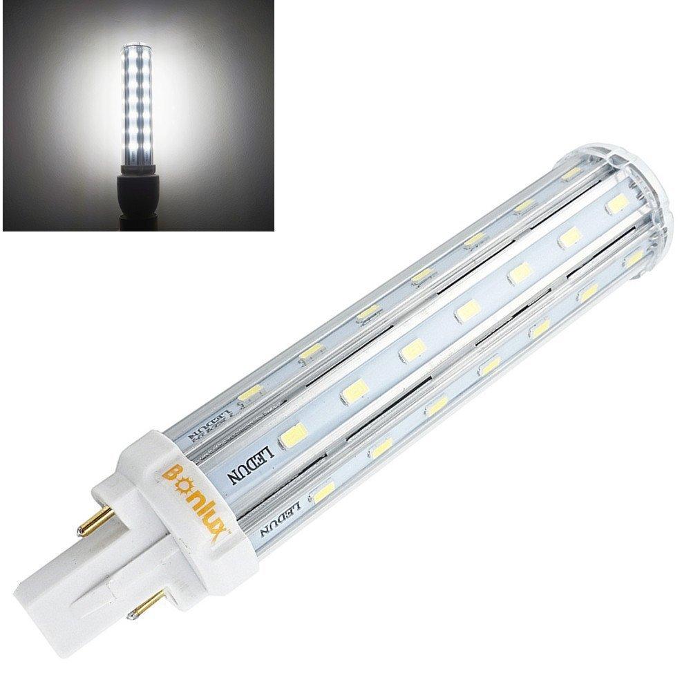 Bonlux g24 led pl retrofit lamp universal g24d 2 pin g24q 4 pin base 2 pin g24q 4 pin base 21mm led plc lamp 26w equivalent daylight 6000k led pl horizontal recessed g24q bulb removebypass the ballast amazon arubaitofo Images