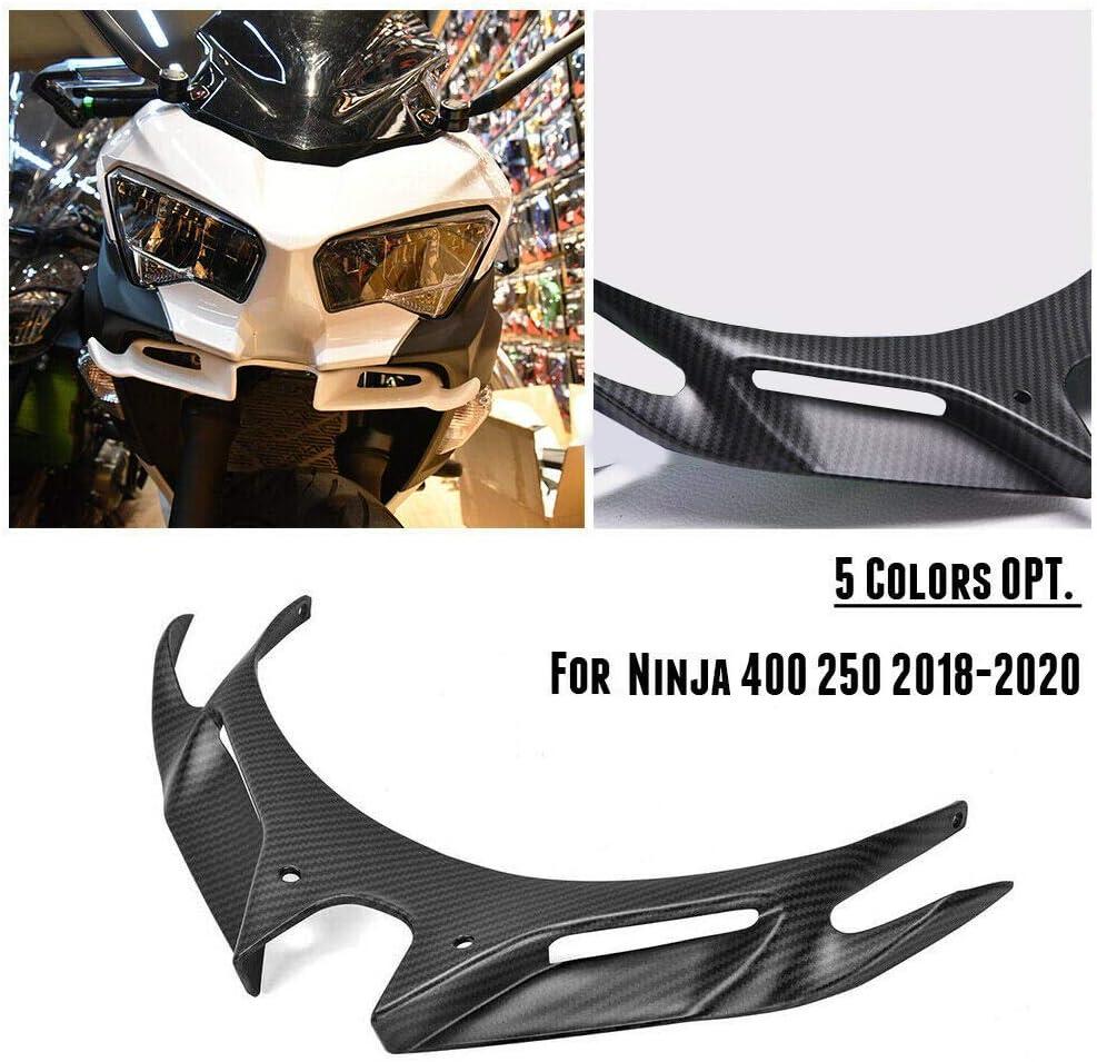 Moligh doll Winglets A/éRodynamiques Avant de Moto Car/éNage de Pare-Brise Aile A/éRodynamique pour Ninja 250400 2018 2019