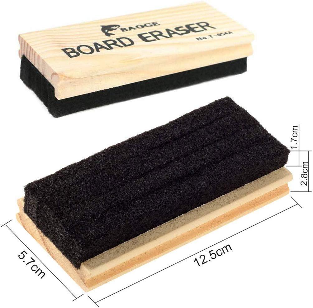 borrador de tiza 6 paquetes de borrador de pizarra de madera de fieltro borrador limpiador de pizarra blanca suministros de oficina y escuela pizarra blanca