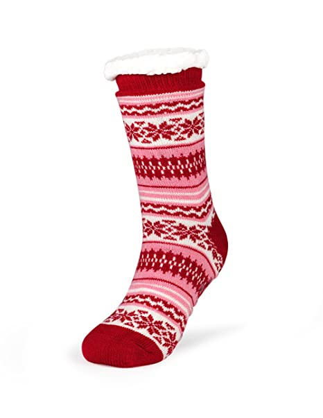4892fdeccbe Image Unavailable. Image not available for. Color  Kodiak - Women s Crew  Socks - Style 4357 - Red