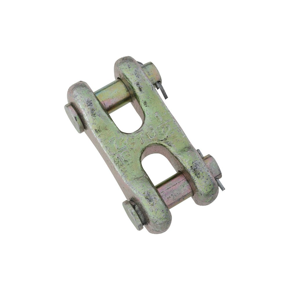 National Hardware N282-145 3255BC Double Clevis Links in Yellow Chromate, 1/2''