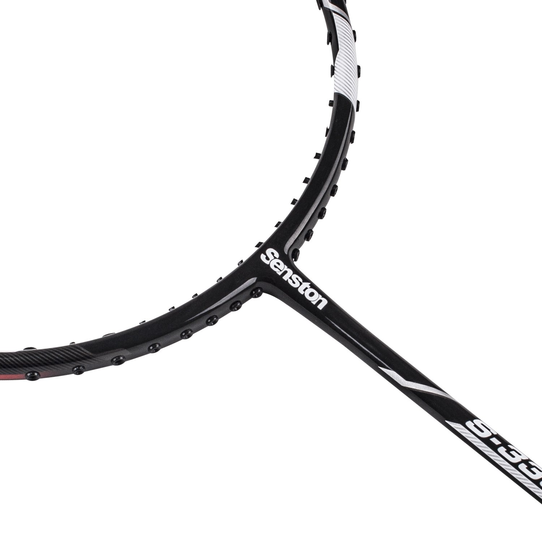 Senston S-330 Single Carbon Fiber Badminton Racquet High String Badminton Racket Red with Racket Cover by Senston (Image #4)