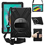 ZenRich Galaxy Tab S5e Case 2019, zenrich SM-T720/T725/T727 Heavy Duty Shockproof Rugged Case with Rotatable Stand Hand…