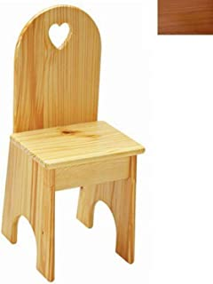 product image for Little Colorado Solid Back Heart Kids Chair in Honey Oak