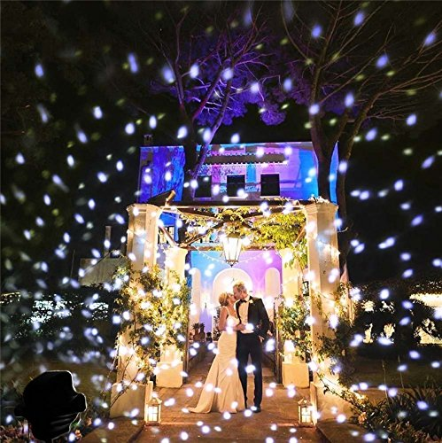 LightInTheBox Christmas Led Snowfall Projector Light Tofu Rotating Waterproof White Snowflake Fairy Landscape Projection Lights with Wireless Remote for Outdoor by LightInTheBox (Image #3)