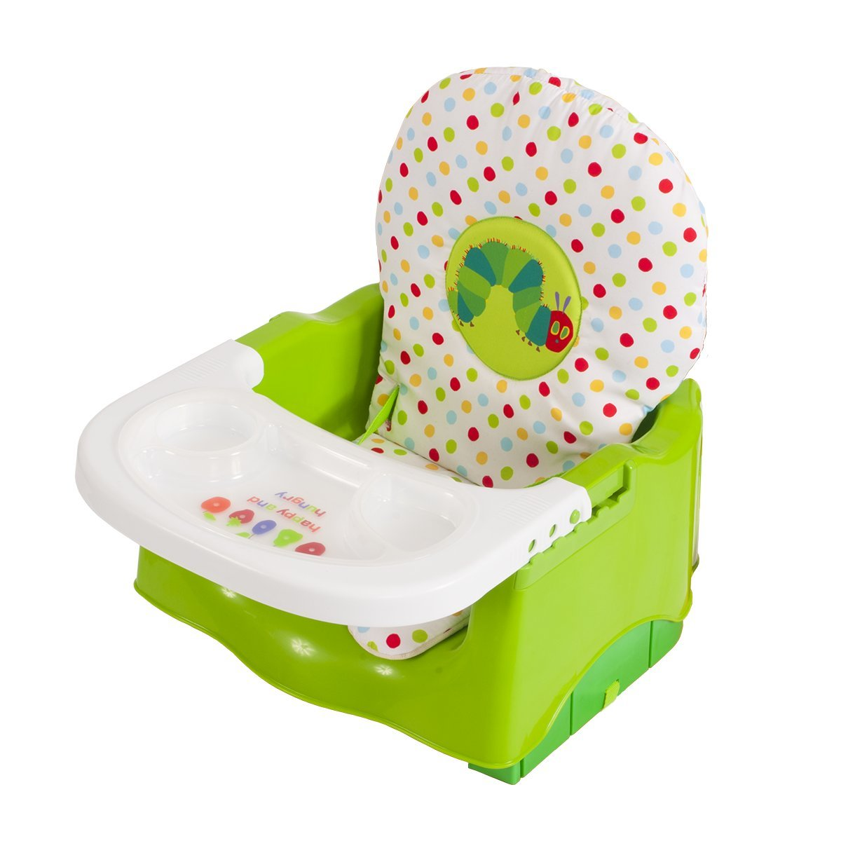 The World of Eric Carle Creative Baby Happy and Hungry Caterpillar Booster Seat, Green by Eric Carle