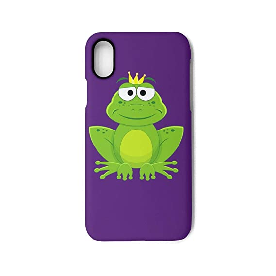 Amazon.com  Phone Case for iPhone XCartoon Prince Frog with Crown ... 4b1c314775