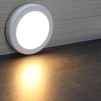 1 piezas LED PIR Cuerpo Sensor de movimiento Luz de pared Luz de noche led Batería para escaleras Armario Sótano Pasillo Gabinete de pared luminarias@Blanco: Amazon.es: Iluminación