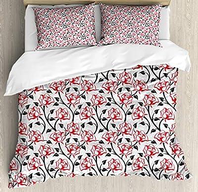 Hedda Clare Duvet Cover SetRomantic Roses Lovers Duvet Cover SetCustom Design 3 PC Duvet Cover Set