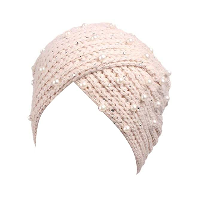 Mütze, BZLine® Frauen Retro Winter stricken Hut Turban Krempe Mütze ...