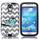 Galaxy S4 Case, GreenElec Dual Layer Armor Hard Cute Sleeping Owls [Rigid Plastic + Soft TPU] Hybrid Armor Shockproof Protective Case Cover for Samsung Galaxy S4 (Black)