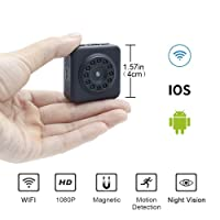 Wifi Mini Kamera LXMIMI 1080P HD Mini Wifi Wireless Nanny Cam Mini Home Security Kamera Überwachungs-Kamera mit Nachtsicht und Bewegungserkennung